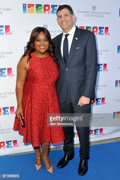 Sherri Shepherd and Consul General of Israel Los Angeles Sam Grundwerg attend a private celebration of The 70th Anniversary of Israel hosted by the...