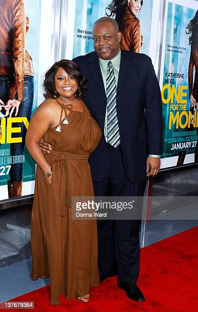 Sherri Shepherd and Lamar 'Sal' Sally attend the One for the Money premiere at the AMC Loews Lincoln Square on January 24 2012 in New York City