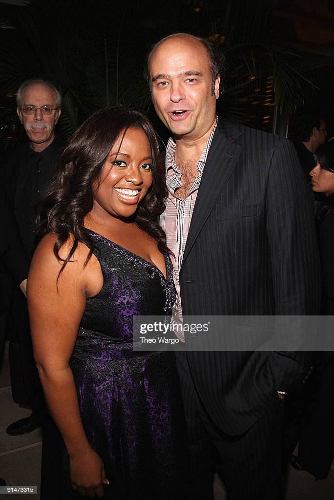 Sherri Shepherd and Scott Adsit attend the Launch Party for new sitcom 'Sherri' at the Empire Hotel on October 5, 2009 in New York City.