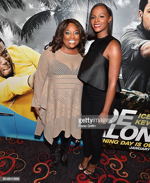 Sherri Shepherd and Tika Sumpter attend Ride Along 2 advance screening at Regal Cinemas Atlantic Station on January 13 2016 in Atlanta Georgia