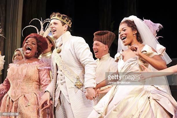 Sherri Shepherd Joe Carroll and Keke Palmer take their bows in Cinderella on Broadway at Broadway Theatre on September 9 2014 in New York City