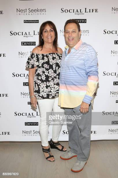 Sherri Singer and Arthur Singer attend the Social Life Magazine Nest Seekers August Issue Party on August 12 2017 in Southampton New York