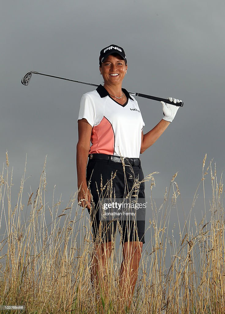 Sherri Steinhauer poses for a portrait before the Safeway Classic at Pumpkin Ridge Golf Club on August 18, 2010 in North Plains, Oregon.