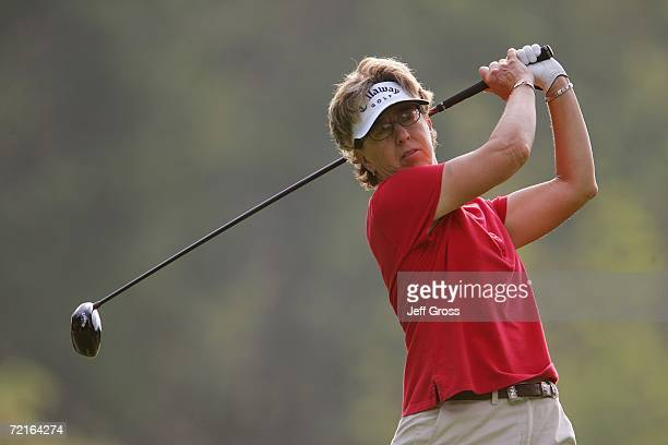 Sherri Turner hits a shot during the second round of the John Q Hammons Hotel Classic on September 9 2006 at the Cedar Ridge Country Club in Broken...