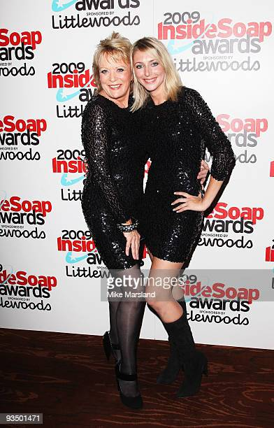 Sherrie Hewson and Ali Bastian pose at the Inside Soap Awards held at Sketch on September 28 2009 in London England