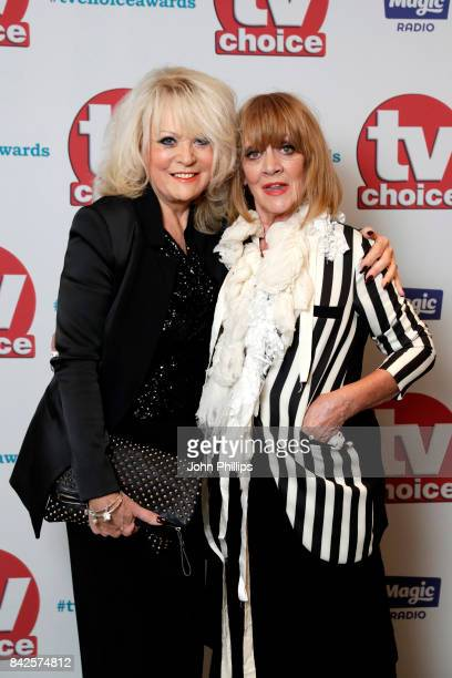 Sherrie Hewson and Amanda Barrie arrive for the TV Choice Awards at The Dorchester on September 4 2017 in London England