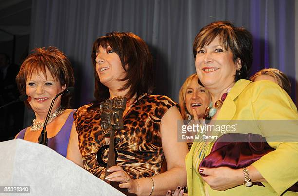 Sherrie Hewson, Jane McDonald and Lynda Bellingham pose with the TV Daytime Programme Award during the TRIC Awards 2009, at the Grosvenor House Hotel...
