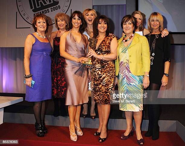 Sherrie Hewson, Jane McDonald, Andrea McLean, Jackie Brambles and Carol McGiffin of Loose Women pose with the TV Daytime Programme Award presented by...