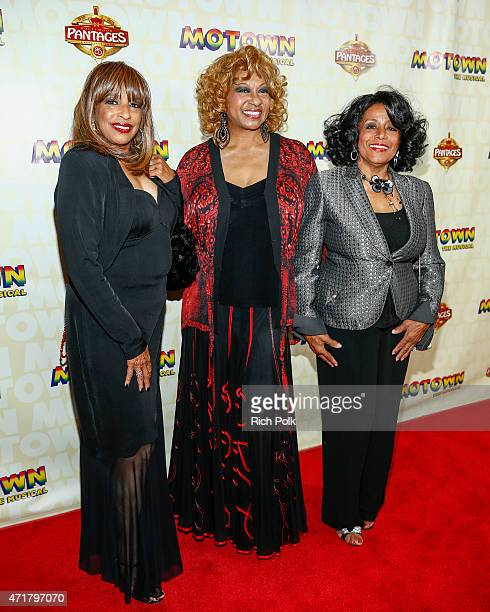 Sherrie Payne Lynda Laurence and Joyce Vincent attend MOTOWN THE MUSICAL at the Pantages Theatre on April 30 2015 in Hollywood California