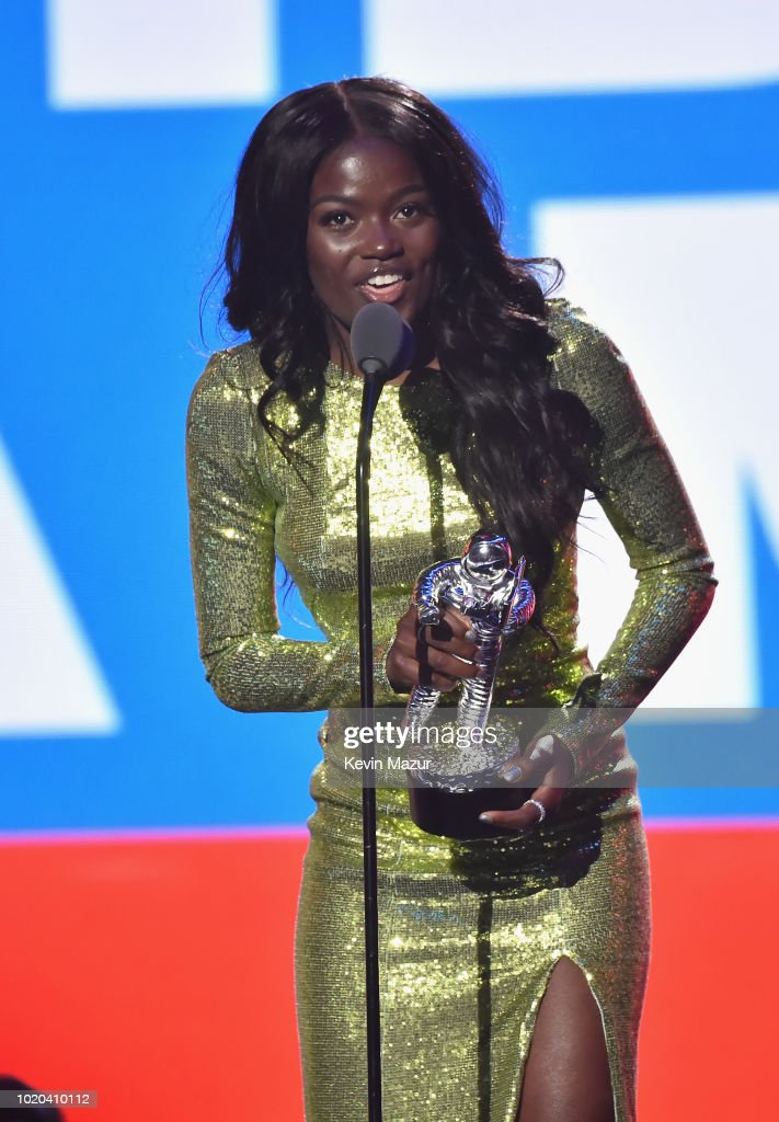 Sherrie Silver accepts an award onstage during the 2018 MTV Video Music Awards at Radio City Music Hall on August 20, 2018 in New York City.