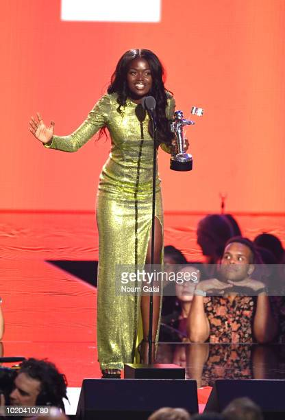 Sherrie Silver accepts the award for Video With a Message on behalf of Childish Gambino onstage during the 2018 MTV Video Music Awards at Radio City...