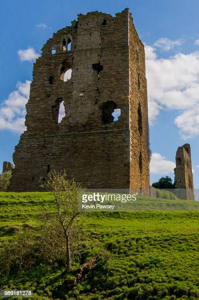 sherrif hutton castle remains - hutton stock photos and pictures