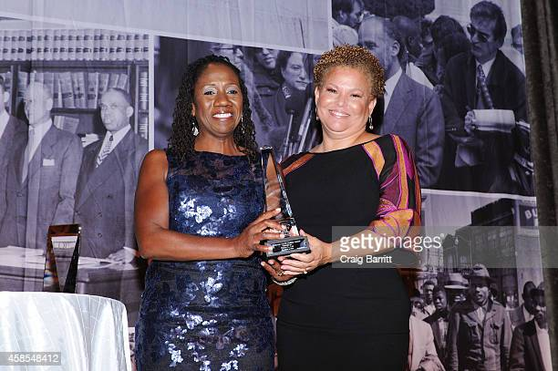 Sherrilyn Ifill and Debra L Lee attend the Legal Defense Fund Annual Gala to commemorate the 60th anniversary of Brown V Board of Education at the...