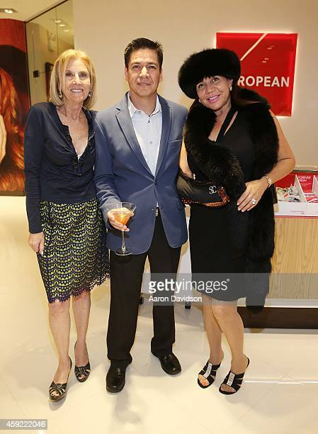 Sherry Baker David Coba and Jacqueline Silverman attends Grand Opening of European Wax Center Aventura at Europen Wax Center on November 18 2014 in...