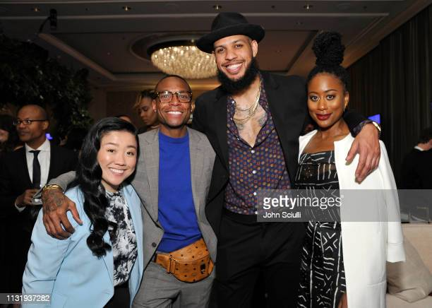 Sherry Cola Sarunas Jackson and Zuri Adele attend the MercedesBenz USA Awards Viewing Party at Four Seasons Los Angeles at Beverly Hills on February...