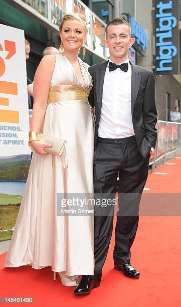 Sherry Coutts and Paul Brannigan attend the The Angels' Share UK premiere at Cineworld Glasgow on May 29 2012 in Glasgow Scotland