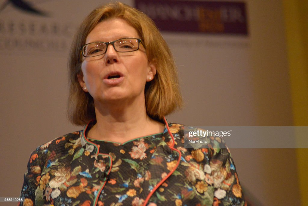 Sherry Coutu CBE, entrepreneur, speaking at the EuroScience Open Forum Conference on July 26th, 2016, in Manchester, England.