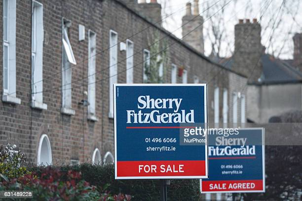 Sherry FitzGerald estate agent signs apears again in front of the same houses for sale in Rathmines as more and more signs can be seen around Dublin...