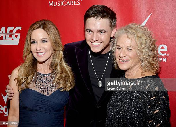 Sherry Goffin Kondor musician Jesse McCartney and honoree Carole King attend 2014 MusiCares Person Of The Year Honoring Carole King at Los Angeles...