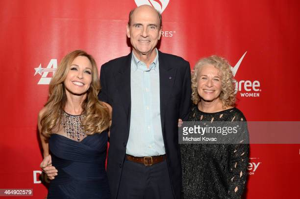 Sherry Goffin Kondor recording artist James Taylor and honoree Carole King attend 2014 MusiCares Person Of The Year Honoring Carole King at Los...