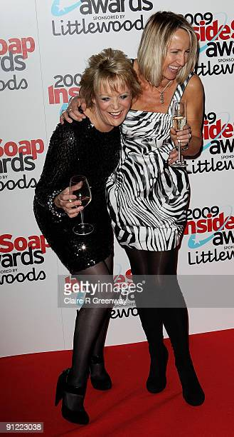 Sherry Hewson and Carol McGiffin pose in the media room at the Inside Soap Awards 2009 at Sketch on September 28 2009 in London England