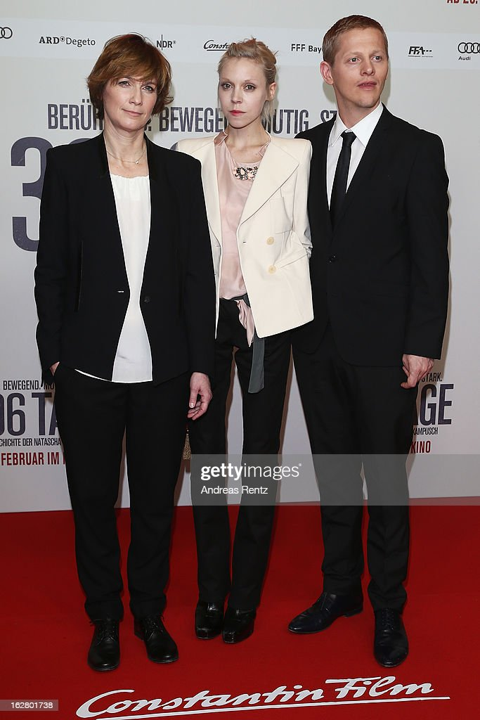 Sherry Hormann, Antonia Campbell-Hughes and Thure Lindhardt attend the '3096 Tage' Berlin Premiere at CineStar on February 27, 2013 in Berlin, Germany.