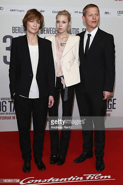 Sherry Hormann Antonia CampbellHughes and Thure Lindhardt attend the '3096 Tage' Berlin Premiere at CineStar on February 27 2013 in Berlin Germany