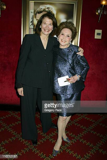 Sherry Lansing and Cindy Adams during Alfie New York Premiere Inside Arrivals at Ziegfield Theater in New York City New York United States
