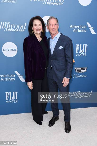 Sherry Lansing and Jon Feltheimer attend The Hollywood Reporter's Power 100 Women In Entertainment at Milk Studios on December 05, 2018 in Los...