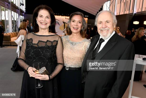 Sherry Lansing Foundation CEO Sherry Lansing actor Jolene Brand and producer George Schlatter attend the 2017 Vanity Fair Oscar Party hosted by...