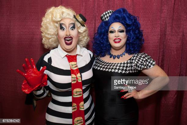 Sherry Pie and Pissi Myles attend the 3rd Annual RuPaul's DragCon at Los Angeles Convention Center on April 30 2017 in Los Angeles California