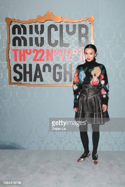Sherry Shen attends Miu Miu 2019 Cruise Fashion Show at Hotel Waldorf Astoria on November 22 2018 in Shanghai China