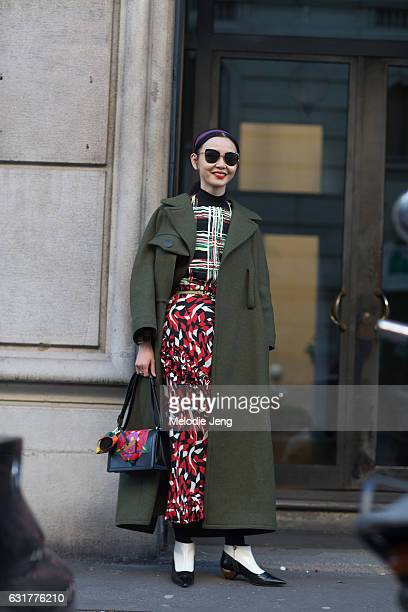 Sherry Shen during Milan Men's Fashion Week Fall/Winter 2017/18 on January 15 2017 in Milan Italy