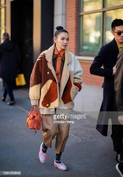 Sherry Shen is seen outside Fendi during Milan Menswear Fashion Week Autumn/Winter 2019/20 on January 14 2019 in Milan Italy