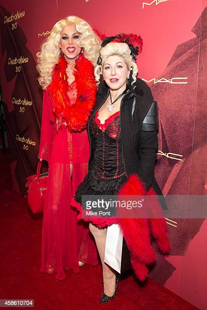 Sherry Vine and Tracy Von Legge attend Indochine's 30th Anniversary Party at Indochine on November 7, 2014 in New York City.
