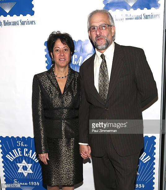 Sherry Wilzig Izak and Matthew Shubitz attend the 79th annual Blue Card Benefit gala at American Museum of Natural History on October 21 2013 in New...