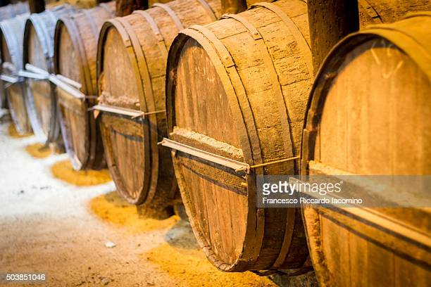 Sherry wine barrels