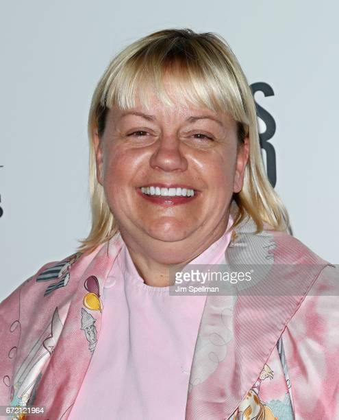 """Sherry Yard attends the """"James Beard: America's First Foodie"""" NYC premiere at iPic Fulton Market on April 23, 2017 in New York City."""