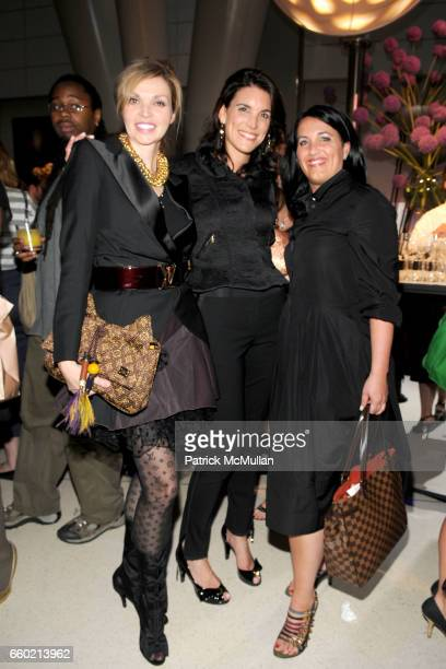Sherryl Pascal Amy Erbesfeld and Melissa Vessely attend LOUIS VUITTON 40th Anniversary of the Lunar Landing Tribute Event at Rose Center for Earth...