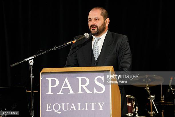 Shervin Pishevar speaks at the PARS Equality Center 4th Annual Nowruz Gala at Marriott Waterfront Burlingame Hotel on March 8 2014 in Burlingame...