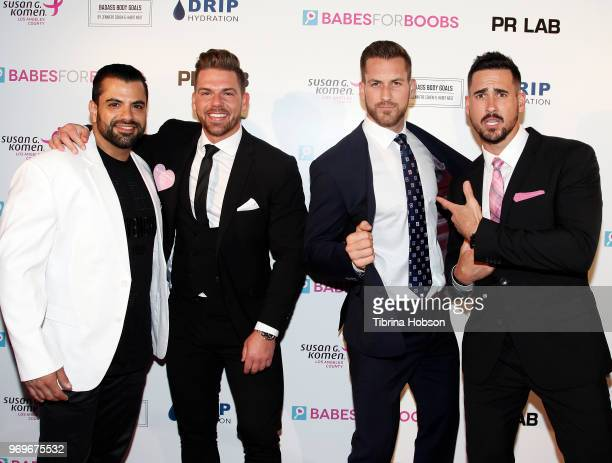 Shervin Roohparvar Joss Mooney Chase McNary and Josh Murray attend the Babes for Boobs live auction benefiting Susan G Komen LA at El Rey Theatre on...