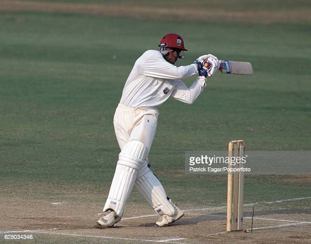 Sherwin Campbell batting for West Indies during the 5th Test match between England and West Indies at Trent Bridge Nottingham 11th August 1995