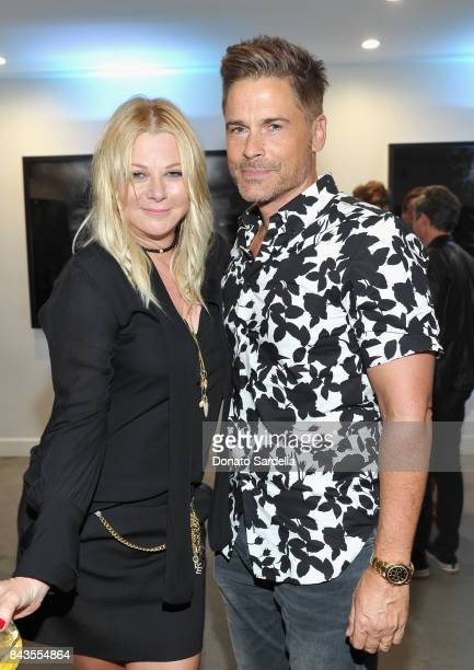 Sheryl Berkoff Lowe Rob Lowe and celebrity floral and fragrance designer Eric Buterbaugh attend the private opening of Sascha von Bismarck debut...