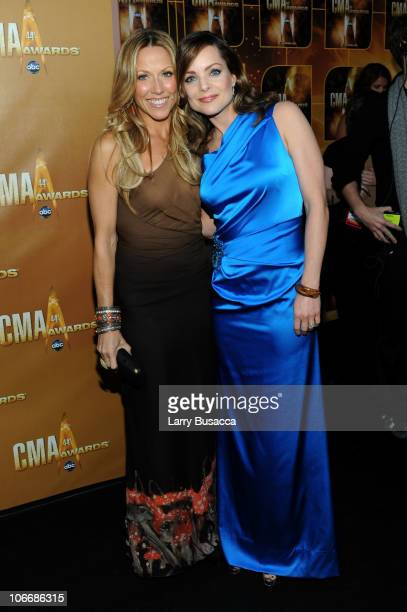 Sheryl Crow and actress Kimberly WilliamsPaisley attend the 44th Annual CMA Awards at the Bridgestone Arena on November 10 2010 in Nashville Tennessee