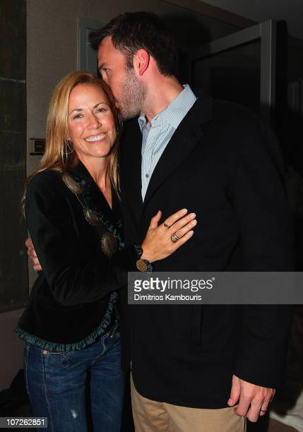 Sheryl Crow and director Ben Affleck attend the after party for The Cinema Society and Details Magazine Screening of Gone Baby Gone at the SoHo Grand...
