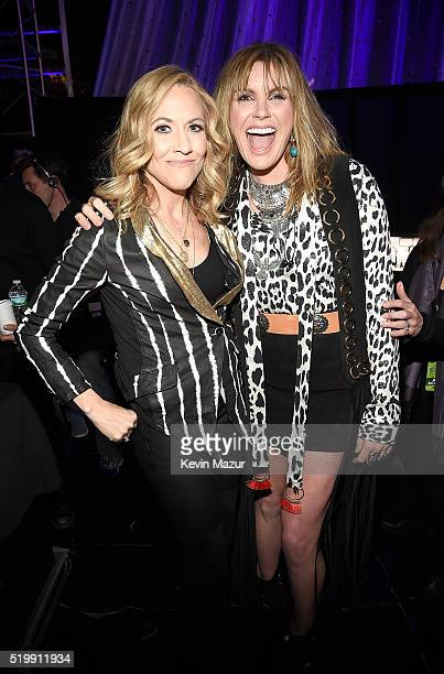 Sheryl Crow and Grace Potter attend 31st Annual Rock And Roll Hall Of Fame Induction Ceremony at Barclays Center of Brooklyn on April 8 2016 in New...