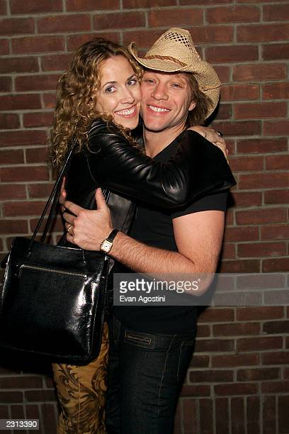 Sheryl Crow and Jon Bon Jovi at the Concert For New York afterparty at the Hudson Hotel in New York City Photo Evan Agostini/Getty Images