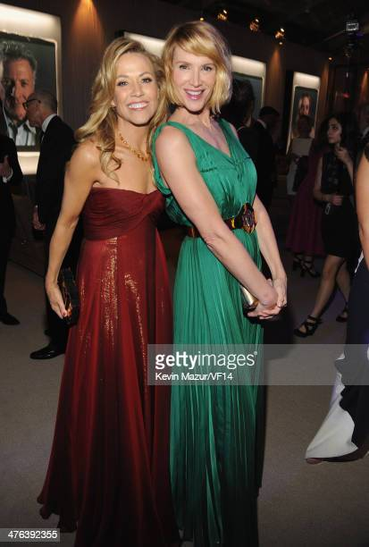 Sheryl Crow and Kelly Lynch attend the 2014 Vanity Fair Oscar Party Hosted By Graydon Carter on March 2 2014 in West Hollywood California