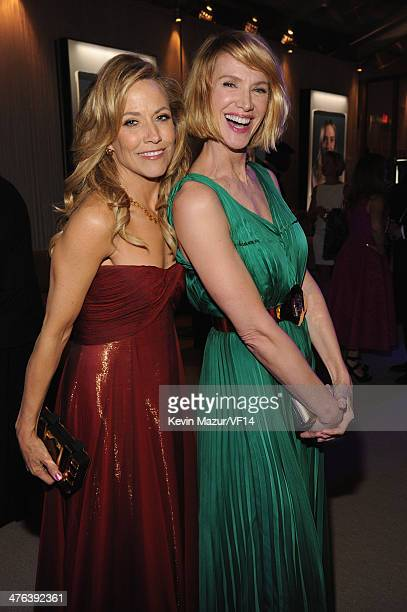 Sheryl Crow and Kelly Lynch attend the 2014 Vanity Fair Oscar Party Hosted By Graydon Carter on March 2, 2014 in West Hollywood, California.