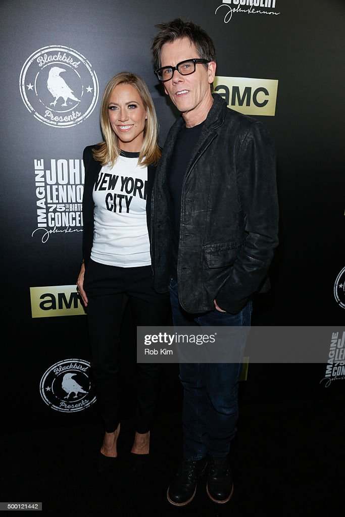 Sheryl Crow (L) and Kevin Bacon attend the Imagine: John Lennon 75th Birthday Concert at Madison Square Garden on December 5, 2015 in New York City.
